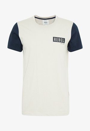 LUKA TEE - Print T-shirt - stone