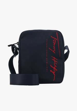 SIGNATURE MINI REPORTER - Across body bag - blue