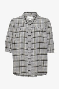 My Essential Wardrobe - MWBELLE PUFF - Button-down blouse - charcoal gray check - 4