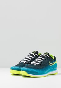 Nike Performance - AIR ZOOM VAPOR X - Multicourt tennis shoes - neo turquoise/black/green/hot lime - 2