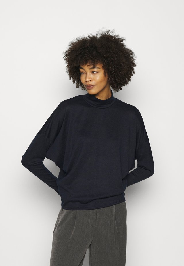 CUT AND SEW HIGH NECK DOLMAN - Sweter - ink