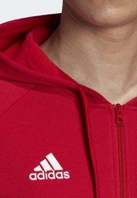 adidas Performance - CORE 19 HOODIE - Huvtröja med dragkedja - red - 5