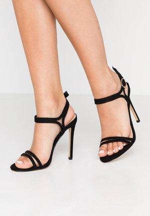 HOTCAKE WIDE FIT - High heeled sandals - black