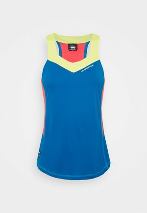 JOY TANK - Sports shirt - neptune/hibiscus