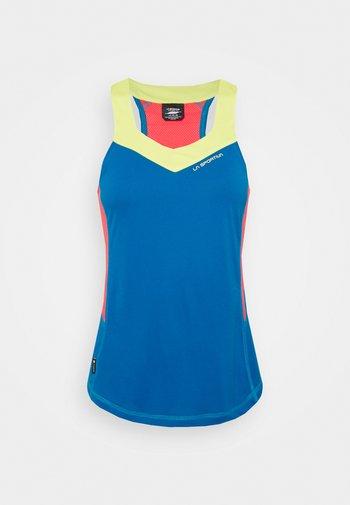 JOY TANK - T-shirt sportiva - neptune/hibiscus