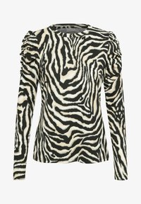 Kaffe - Long sleeved top - black/beige zebra print - 4