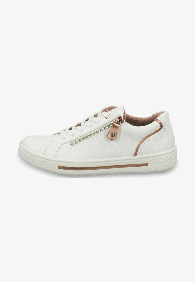 Sneakers laag - white/rosegold