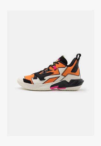 WHY NOT ZER0.4 - Basketball shoes - pale ivory/black/alpha orange/volt/pink blast