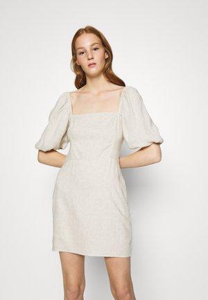 SMOCKED MINI - Day dress - flax