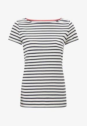 Print T-shirt - naturweiß/navy