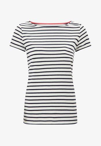 BRETON - Print T-shirt - naturweiß/navy