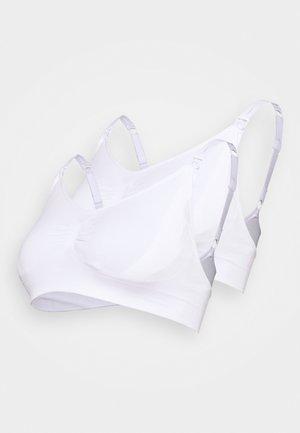 SEAMLESS NURSING BRA 2 PACK - T-shirt bra - white