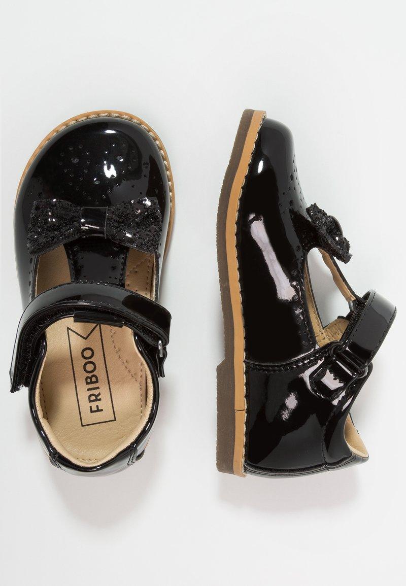 Friboo - Ballerina's met enkelbandjes - black