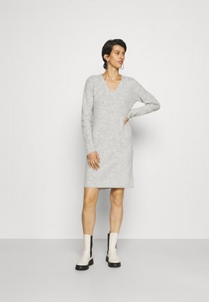 PCELLEN V NECK DRESS - Jumper dress - light grey melange