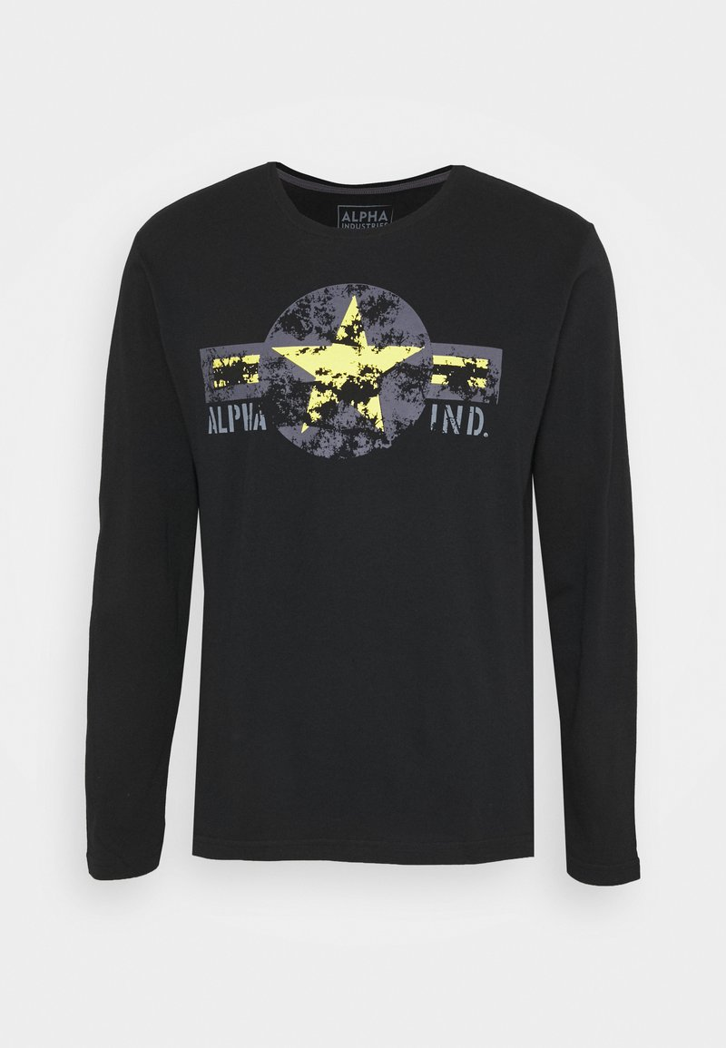 Alpha Industries - USAF - Long sleeved top - black/yellow