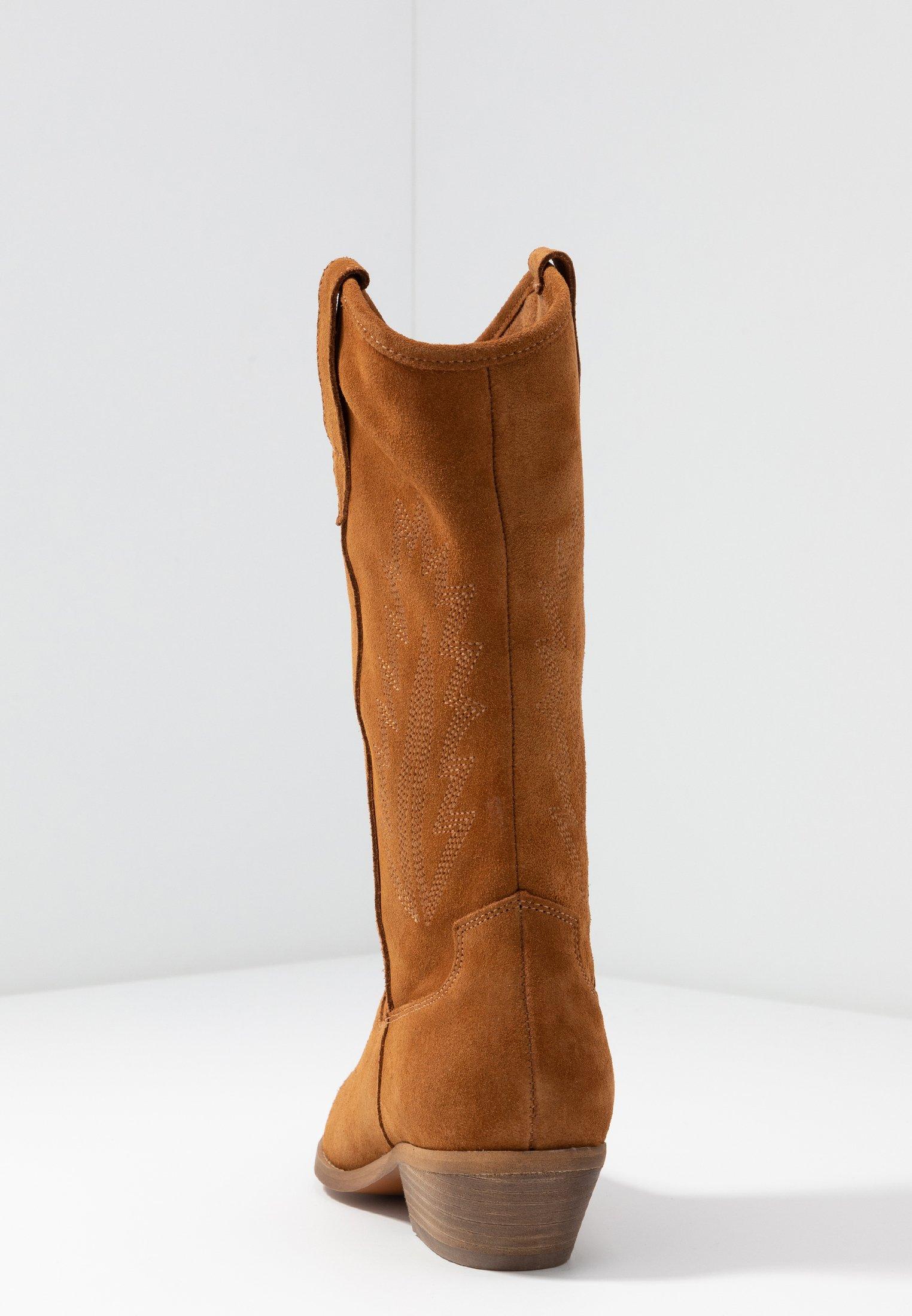 INSTA FEATHER Cowboy Bikerlaarzen brown