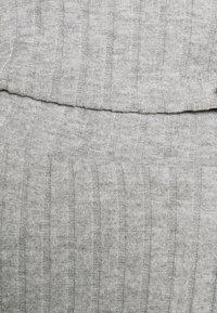 Anna Field - CROPPED RIB PJ SET - Pyjama set - mottled light grey - 5
