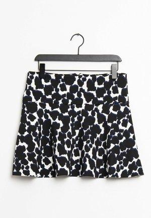 A-line skirt - black / white