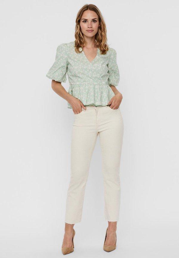 Vero Moda Bluzka - mist green/jasnozielony CPVO