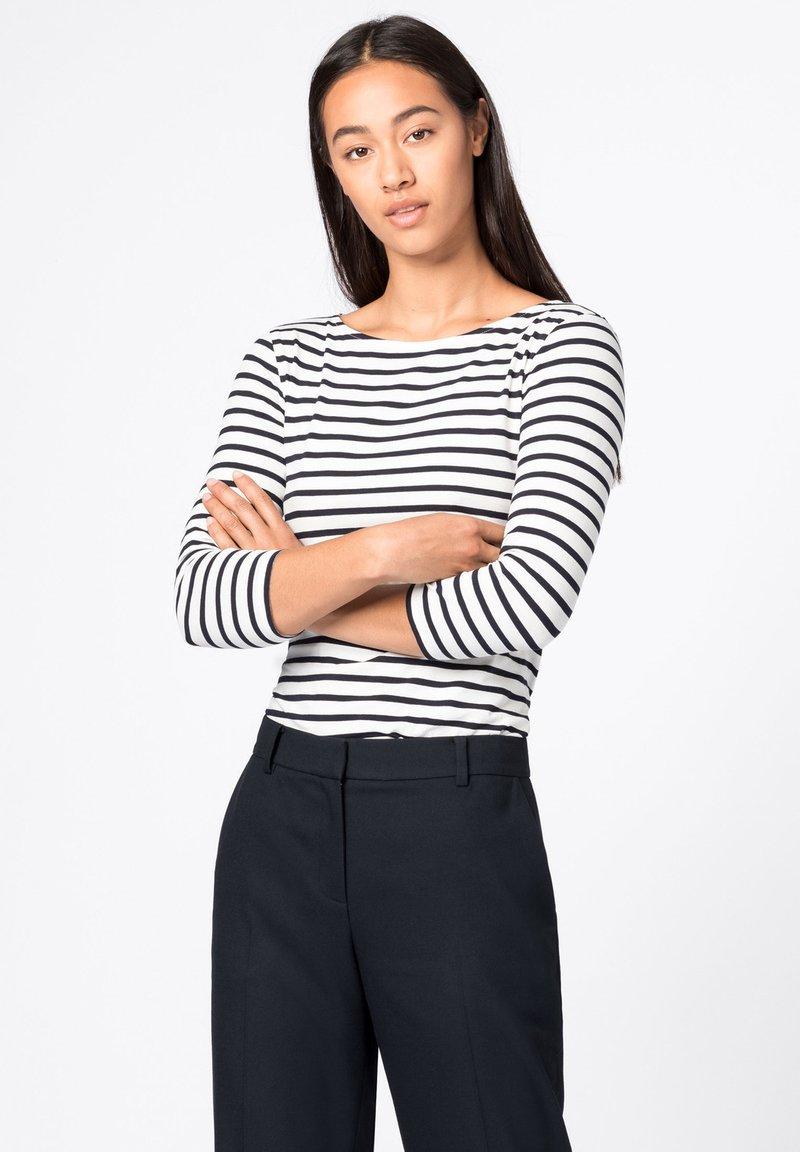 HALLHUBER - T-shirt à manches longues - dunkelblau