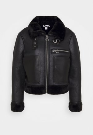 AMIE JACKET - Faux leather jacket - black