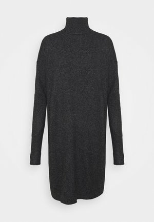 VMBRILLIANT ROLLNECK DRESS - Abito in maglia - black