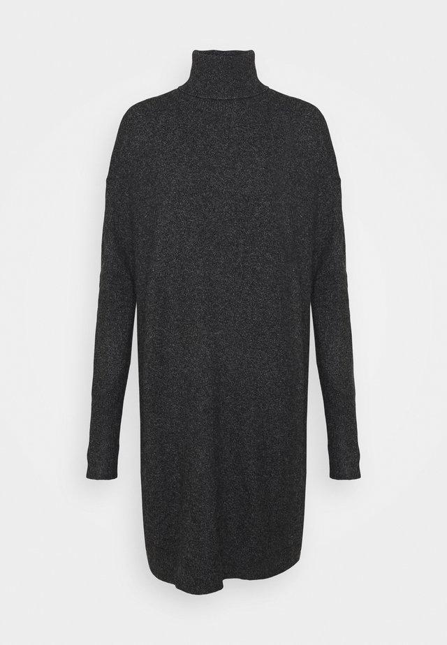 VMBRILLIANT ROLLNECK DRESS - Gebreide jurk - black