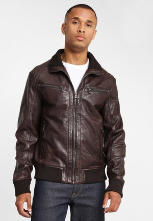 GBFALK  - Veste en cuir - dark brown