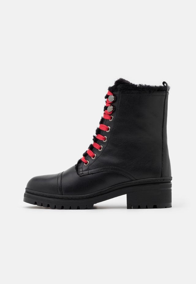 IRACHE - Bottines à lacets - black