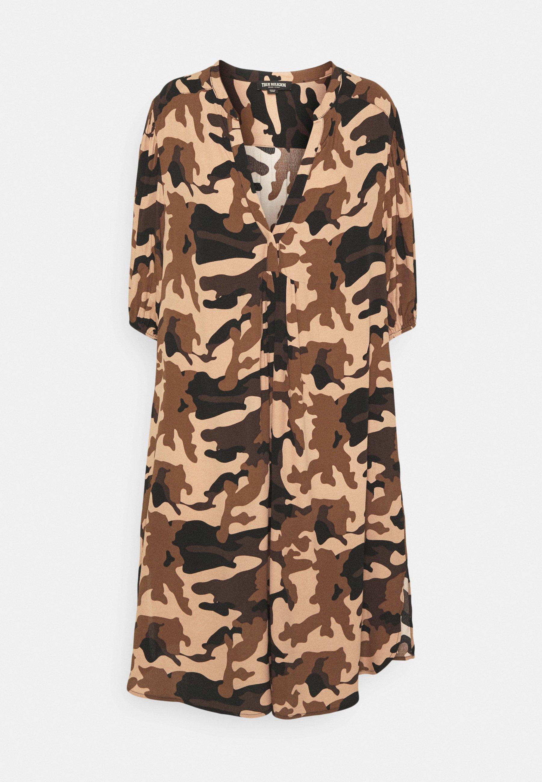 Women PUFFY SLEEVE DRESS - Day dress