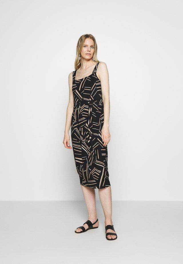 ODELIA - Žerzejové šaty - black