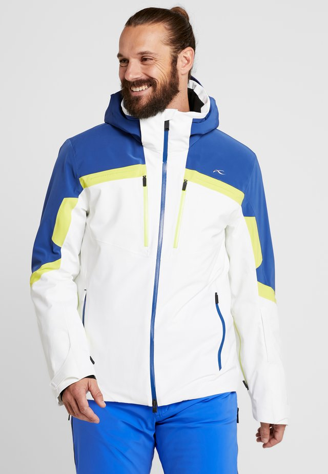 MEN SPEED READER JACKET - Ski jas - white/southern blue