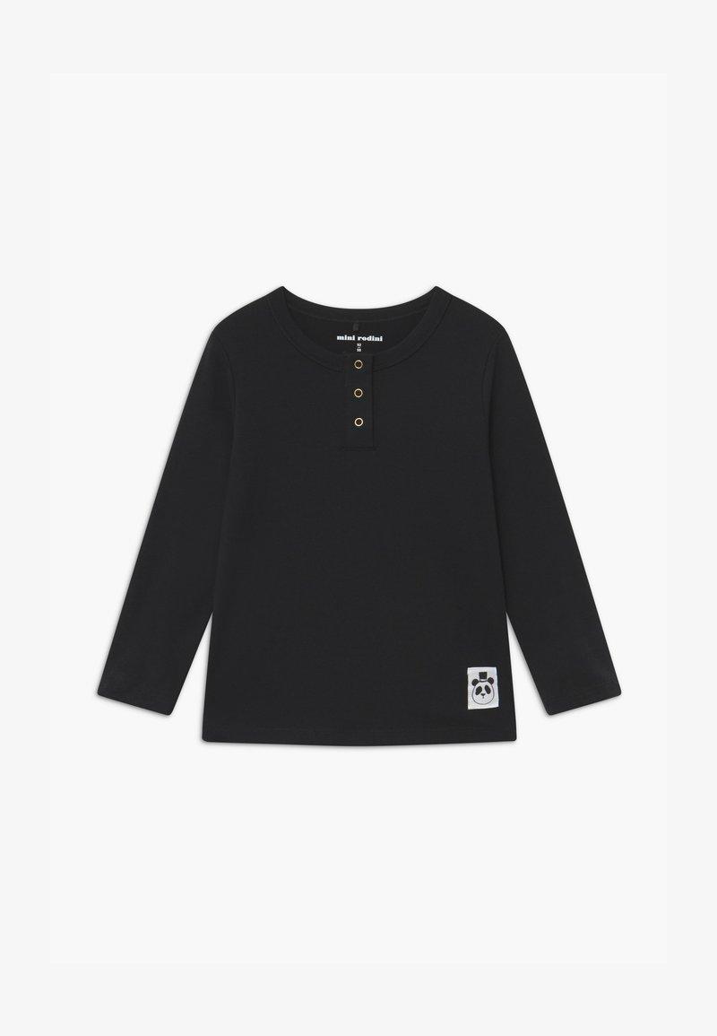 Mini Rodini - BABY BASIC GRANDPA - Long sleeved top - black