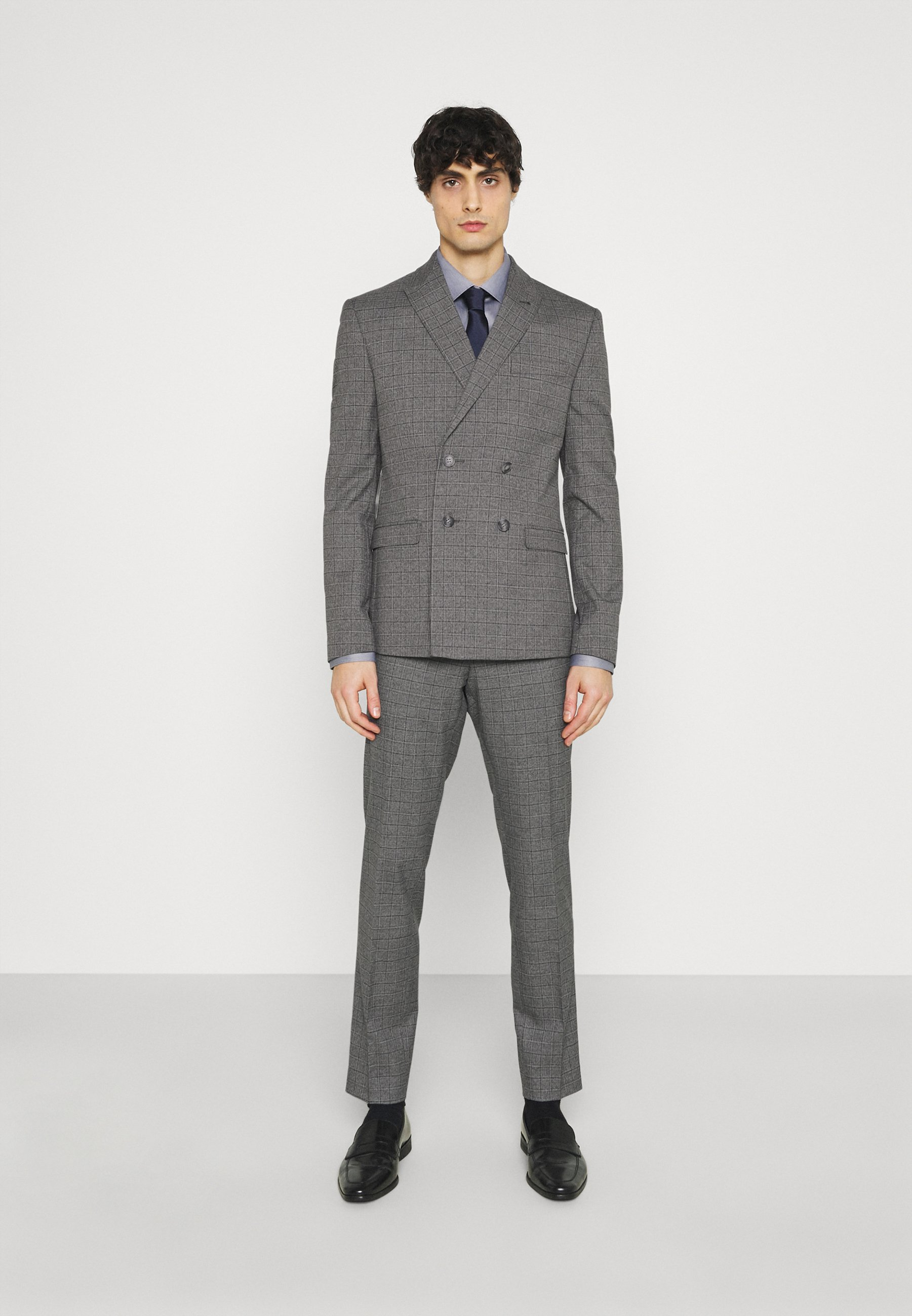 Homme CHECK DOUBLE BREASTED SUIT - Costume