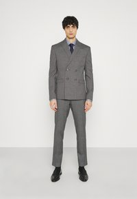 Isaac Dewhirst - CHECK DOUBLE BREASTED SUIT - Oblek - grey - 0