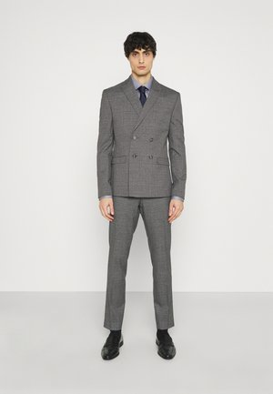 CHECK DOUBLE BREASTED SUIT - Costume - grey