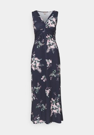 Długa sukienka - dark blue/pink