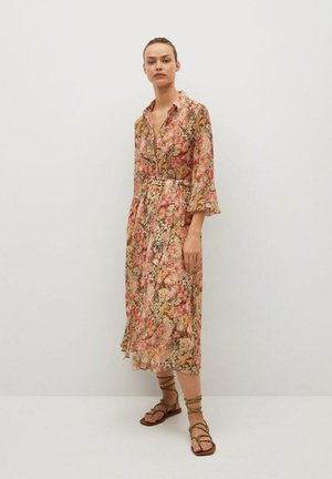 Shirt dress - korallrot