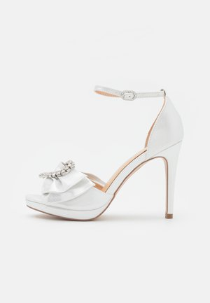 JOJO - Platform sandals - white shimmer