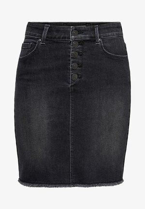 ONLBLUSH RAW - Falda vaquera - black denim