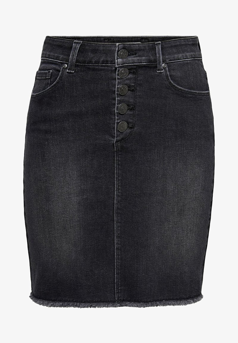 ONLY - ONLBLUSH RAW - Denimová sukně - black denim