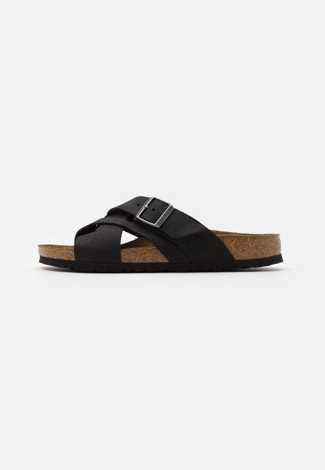 LUGANO NARROW FIT - Slippers - camberra old black