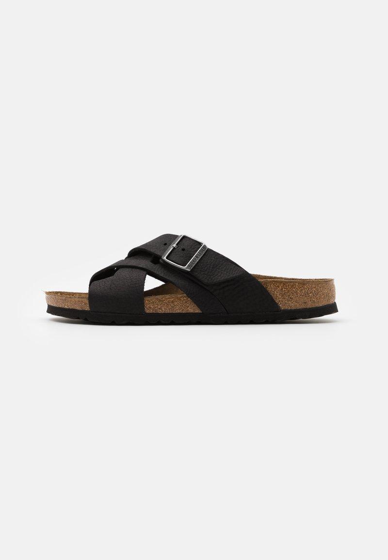 Birkenstock - LUGANO NARROW FIT - Pantofole - camberra old black