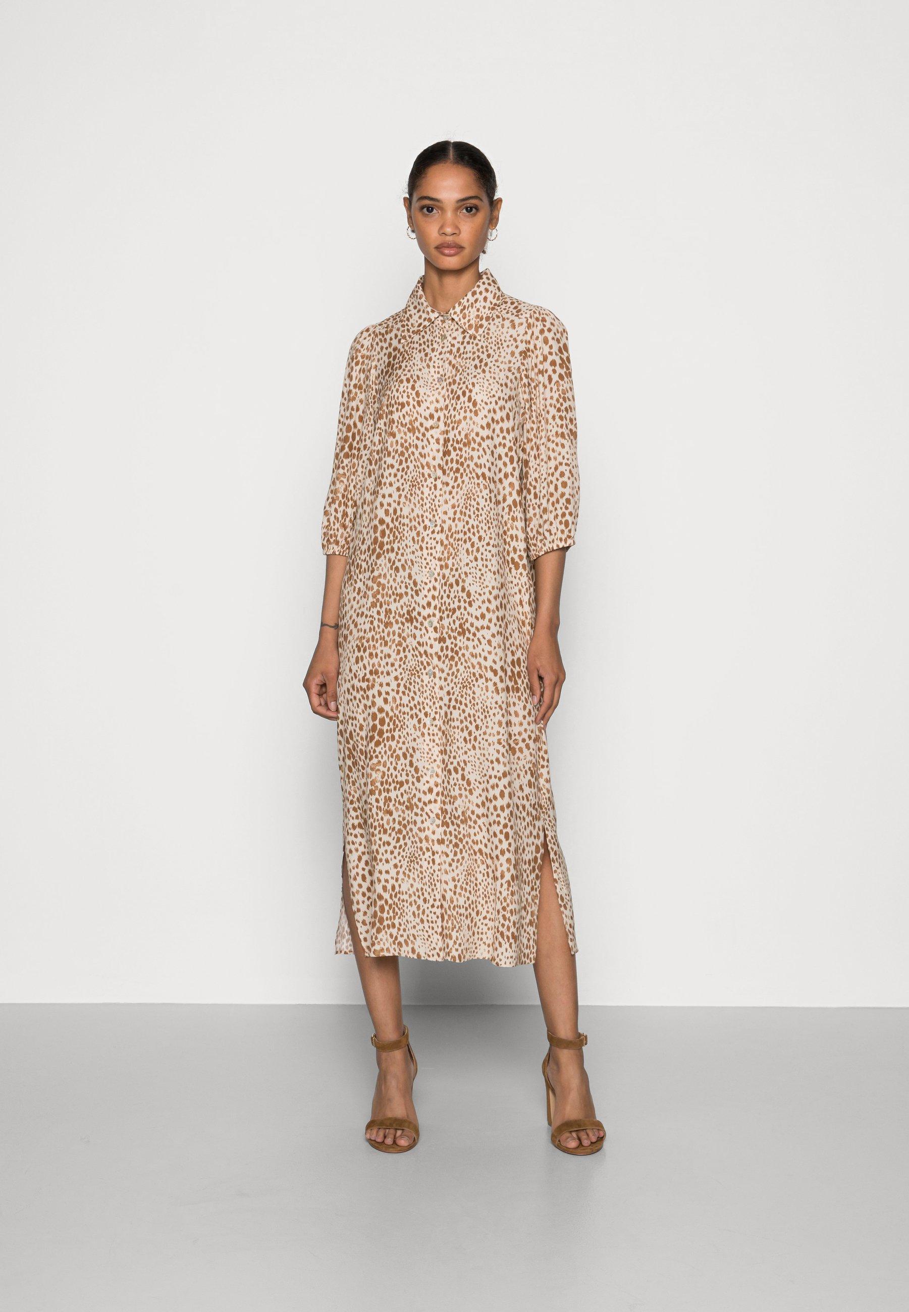 Mujer DRESS WITH LEO PRINT - Vestido camisero