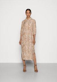 Rich & Royal - DRESS WITH LEO PRINT - Shirt dress - beige - 0