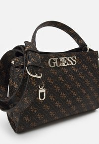 Guess - UPTOWN CHIC TURNLOCK SATCHEL - Håndveske - brown - 3