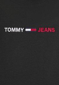 Tommy Jeans - LINEAR LOGO TEE - Triko spotiskem - black - 6