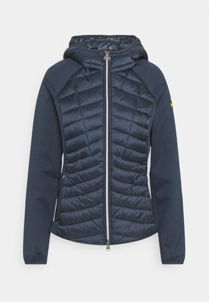 Zip-up sweatshirt - metallic blue