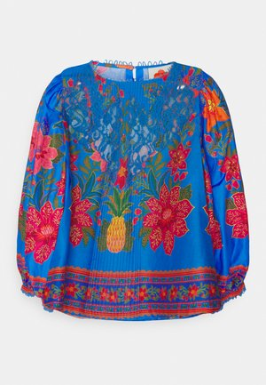 TROPICAL TAPESTRY BLOUSE - Bluser - blue