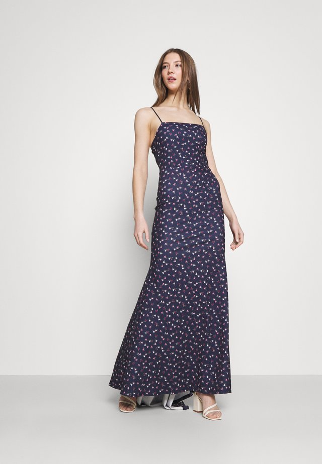 FLORAL CAMI FISHTAIL BRIDESMAID DRESS - Jersey dress - navy